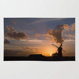 Sunset on the Norfolk Broads Rug