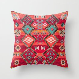 18 - Traditional Colored Epic Anthique Bohemian Moroccan Artwork Throw Pillow