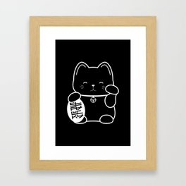 Stay Lucky BLK Framed Art Print
