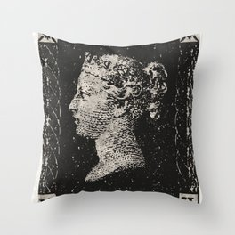 The Penny Black Postage Stamp Throw Pillow