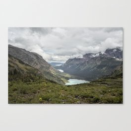 Three Lakes Viewed from Grinnell Glacier Canvas Print