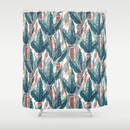 Hunter and Big Leaves #2 Shower Curtain