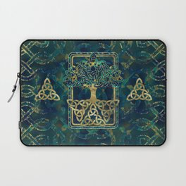 Tree of life - Yggdrasil with Triquetra  symbols Laptop Sleeve