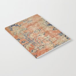 Vintage Woven Navy and Orange Notebook