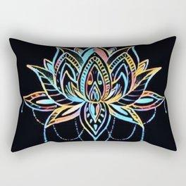 Pastel Lotus Rectangular Pillow