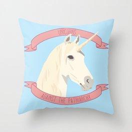 Unicorns Against the Patriarchy Throw Pillow