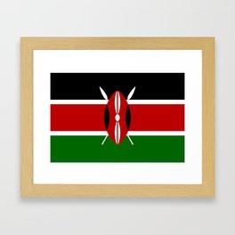 Flag of Kenya Framed Art Print