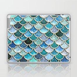 Multicolor Aqua Mermaid Scales - Beautiful Abstract Glitter Pattern Laptop & iPad Skin