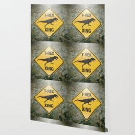 T-Rex Crossing Wallpaper