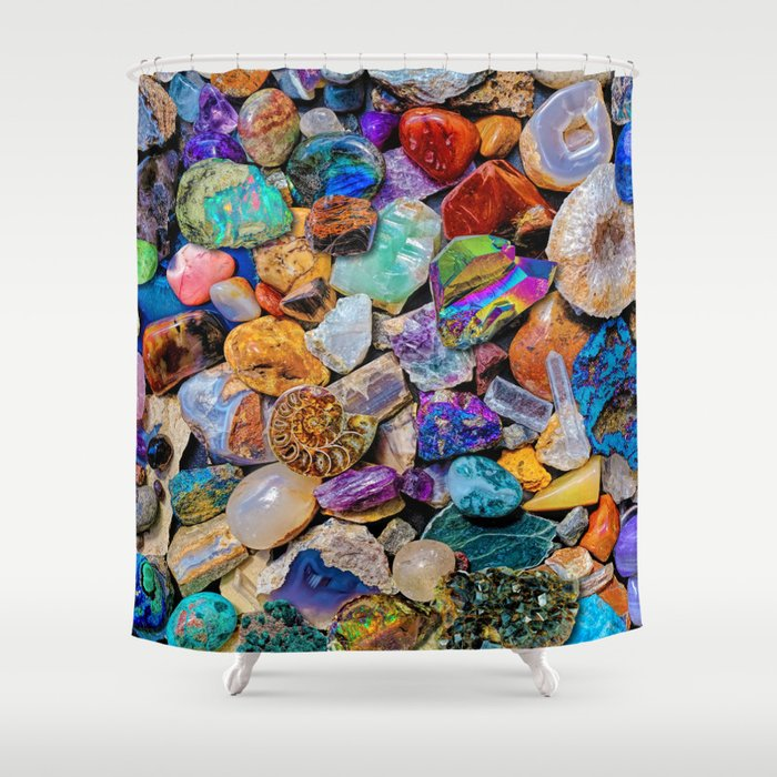 Rocks and Minerals, Geology Shower Curtain