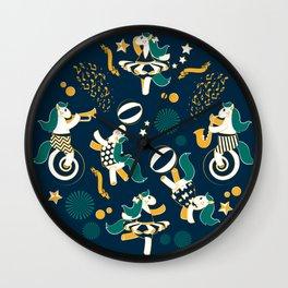 Equestrian modern circus Wall Clock