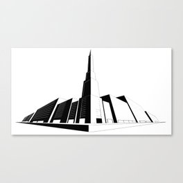 Perspective Line Drawing Canvas Print
