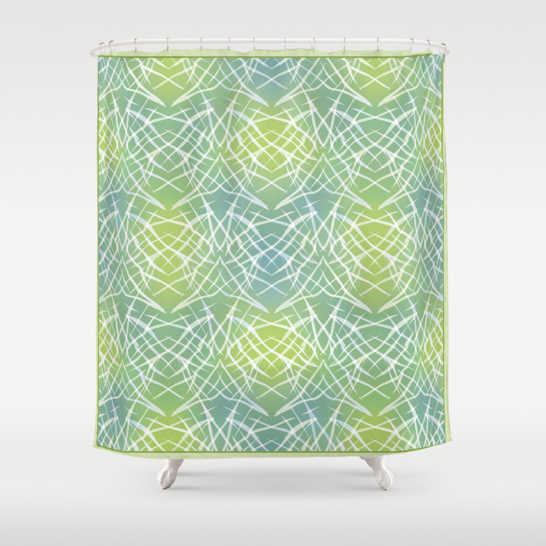 Yellow and blue shower curtain - Yellow And Blue Shower Curtain 49