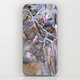 Magnolia blossoms iPhone Skin