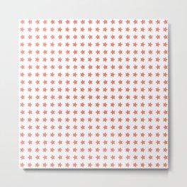 Pink stars patterrn Metal Print