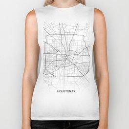 Houston street map Biker Tank