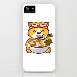 Kawaii Dog Ramen Bowl Funny Anime Noodles Puppy iPhone Case