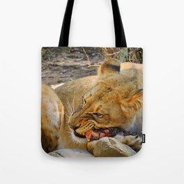 Lion dinner Tote Bag