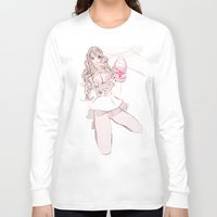 champagne Long Sleeve T-shirts featuring CAPRI CHAMPAGNE by Chandelina