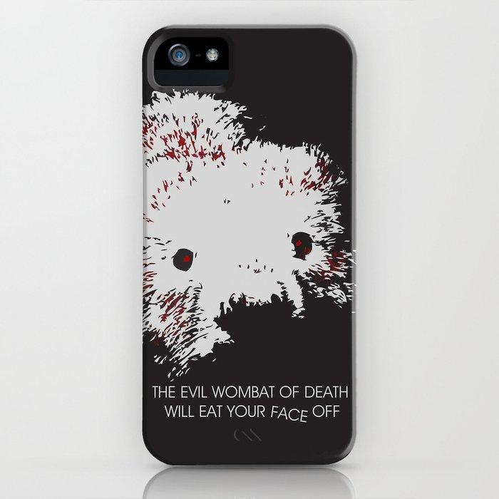 Evil Wombat of Death iPhone Case