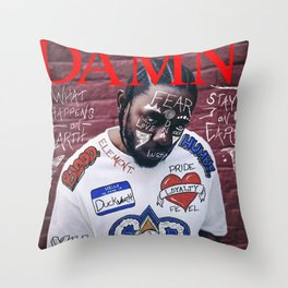 Kendrick Lamar - DAMN. Alternate Album Artwork Cover Throw Pillow