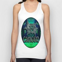 astrology Tank Tops featuring Cancer Zodiac Sign Astrology by CAP Artwork & Design