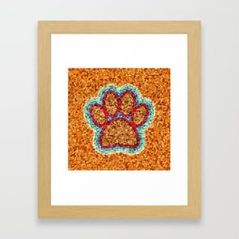 Low Polly Dog Paw Art Framed Art Print