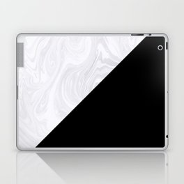 Black and White Marble Texture Laptop & iPad Skin