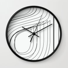 Helvetica Condensed 002 Wall Clock
