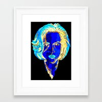 dana scully Framed Art Prints featuring Dana Scully by Sam Del Valle