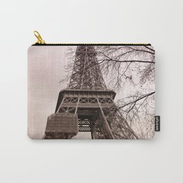 Pink sunset at the Eiffel tower in Paris Carry-All Pouch