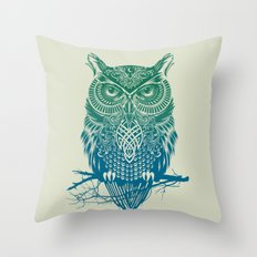Warrior Owl Throw Pillow