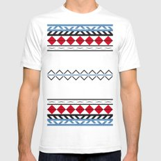 Aztec Dark SMALL White Mens Fitted Tee