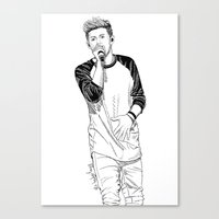 niall Canvas Prints featuring niall by otp-hedgefrog