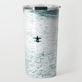 Lone surfer - slate Travel Mug