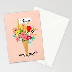 Seek magic every day Stationery Cards