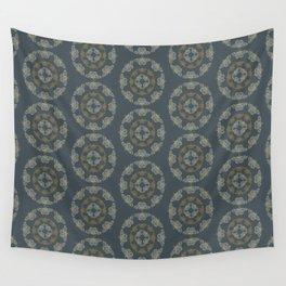 Silk Moths- Blue Wall Tapestry