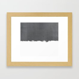 White Paint on Concrete Framed Art Print