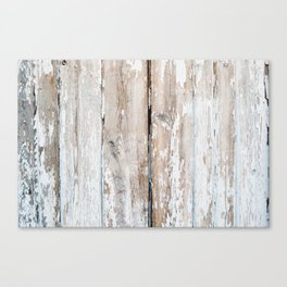 Old wooden fence texture Canvas Print