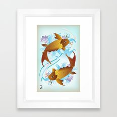 Twin Koi Framed Art Print