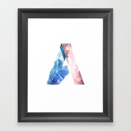 A for Effort Framed Art Print