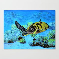 Quiet Swimm Canvas Print