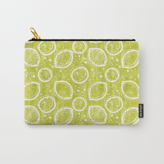 Atomic Lemonade_Green and White Carry-All Pouch