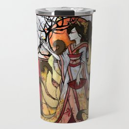 Kitsune of Sunset Travel Mug