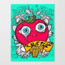Save the Veggies! - Tomato 1 Canvas Print