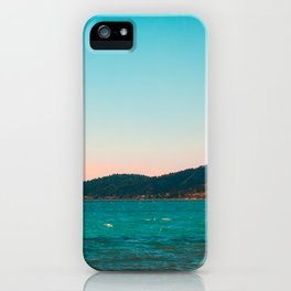 Mountains and Sea at Greece iPhone Case