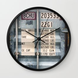 Cargo container Wall Clock