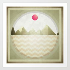 Pinked Sands Art Print