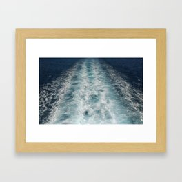 Sea Trails 3 Framed Art Print