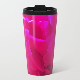 Rose close up bright pink Travel Mug